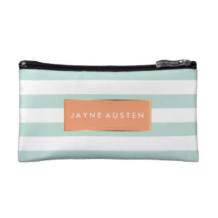 PixDezines DIY color adjustable stripes Makeup Bag at Zazzle