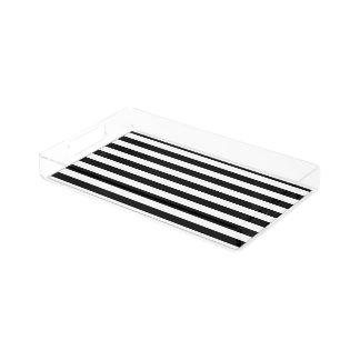 PixDezines DIY color adjustable stripes Rectangle Serving Trays