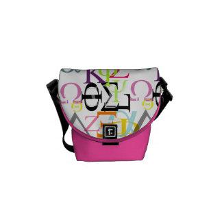 PixDezines diy color alpha omega/monogram Messenger Bag