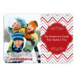 PixDezines diy color chevron/christmas Custom Invitations