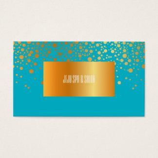 PixDezines DIY color/dazzled faux gold specks Business Card