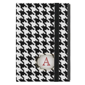 PixDezines diy color/hounds tooth pattern+monogram Covers For iPad Mini