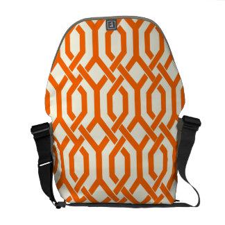 PixDezines DIY color...Kew Trellis/tropical orange Courier Bag