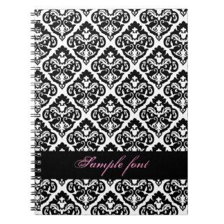 PixDezines diy color, olivia damask Notebook