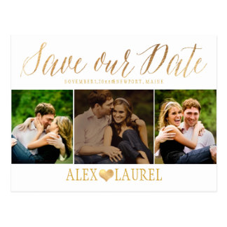 PixDezines DIY color/Save our Date/Fun Script Postcard