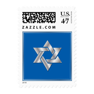 PixDezines DIY color/silver star of david Postage