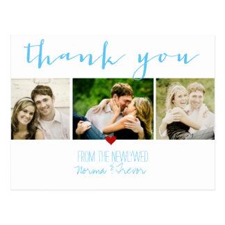 PixDezines DIY color/wedding thank you/fun script Postcard