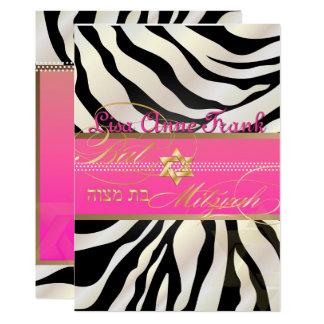 PixDezines DIY color/Zebra, Bat Mitzvah Card