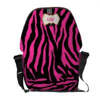 PixDezines diy color zebra stripes/monogram rickshawmessengerbag