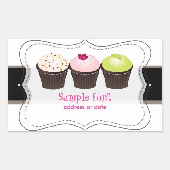 PixDezines diy colors, cupcake Rectangular Sticker