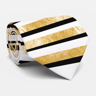 PixDezines diy colors/faux gold/black/white Tie