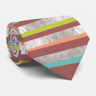 PixDezines diy colors/faux silver/marsala Neck Tie
