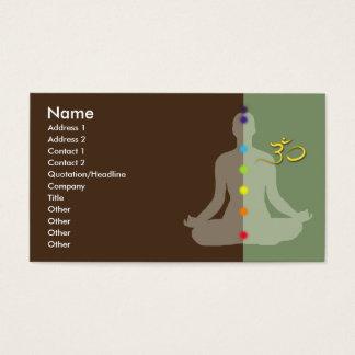PixDezines diy colors+fonts meditation+om symbol Business Card