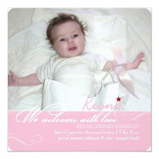 PixDezines diy colors, fotos birth announcement