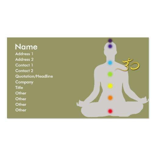 PixDezines diy colors, meditation and om symbol Business Cards