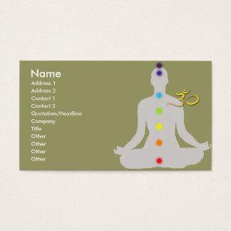 PixDezines diy colors, meditation and om symbol Business Card