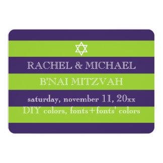 PixDezines DIY colors/stripes bnai mitzvah Card