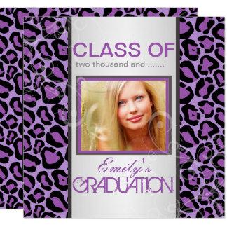 PixDezines  DIY Graduation/purple jaguar Card