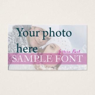 PixDezines DIY photo+fonts Business Card