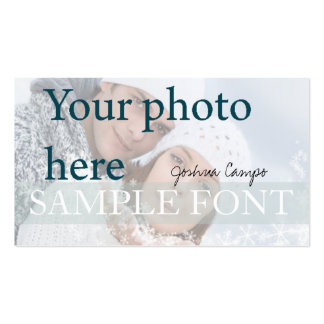 PixDezines DIY photo+fonts Business Card Template