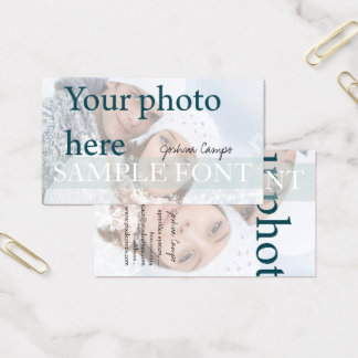 PixDezines DIY photo+fonts Business Card