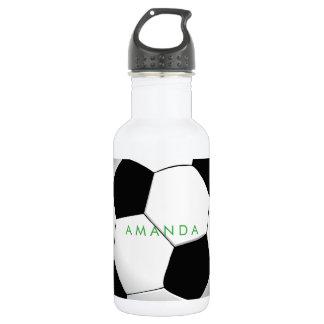 PixDezines DIY soccer ball Stainless Steel Water Bottle