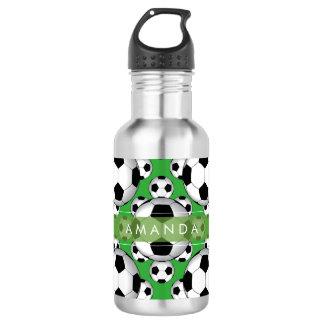 PixDezines DIY soccer balls Stainless Steel Water Bottle