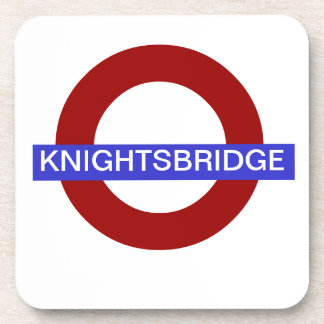 PixDezines DIY text/underground.knightsbridge Drink Coaster