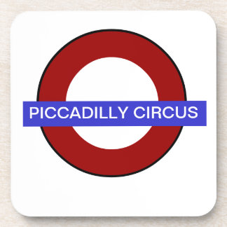 PixDezines DIY text/underground piccadilly circus Drink Coaster