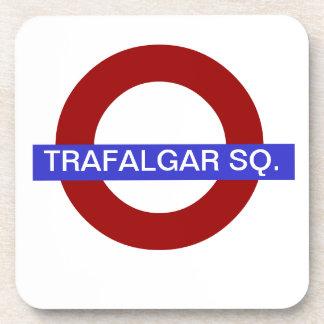 PixDezines DIY text/underground station..trafalgar Beverage Coaster