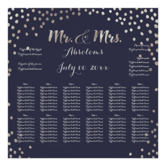 PixDezines DIYColor/Faux Silver Specks/Seating Poster