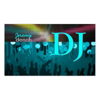 PixDezines DJ retro+pasillo de danza/aguamarina az Tarjetas Personales
