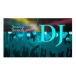 PixDezines DJ retro+pasillo de danza/aguamarina Tarjetas De Visita