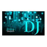 PixDezines DJ retro+pasillo de danza Tarjetas De Visita