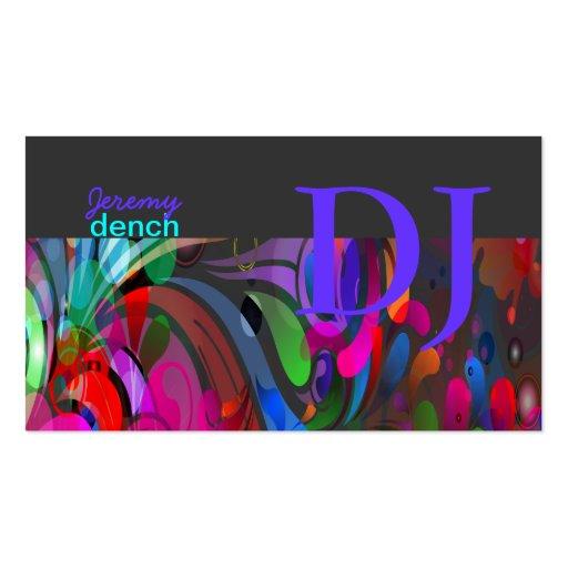 PixDezines DJ retro+remolinos del disco Tarjetas De Visita