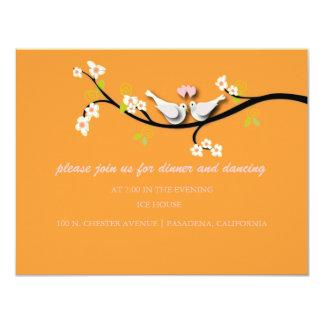 PixDezines doves/love birds/diy color 4.25x5.5 Paper Invitation Card