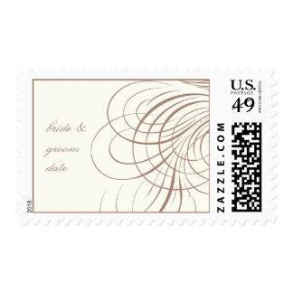 PixDezines Dovestails Calligraphy/DIY text+color Postage