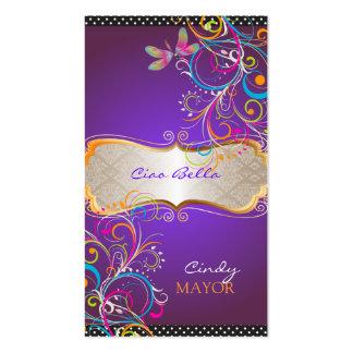 PixDezines Dragonflies/Royal Purple Business Card