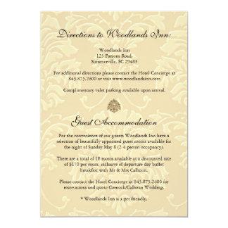 PixDezines ebony swirls/ivory damask Card