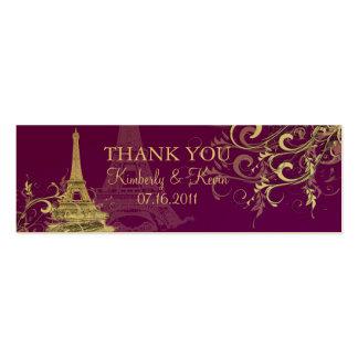 PixDezines Eiffel Tower/Bateau Mouche+Swirls Double-Sided Mini Business Cards (Pack Of 20)