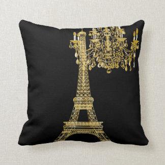 PixDezines eiffel tower/faux gold/DIY color Throw Pillow