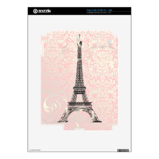 PixDezines eiffel tower+swirls, DIY background Decal For The iPad 2