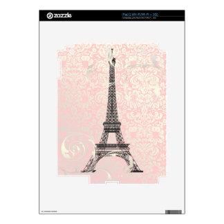 PixDezines eiffel tower+swirls, DIY background Skins For iPad 2