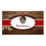 PixDezines elegant chocolate swirls cupcake Business Card
