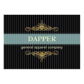 PixDezines elegant pin stripes+scrolls/diy color Large Business Cards (Pack Of 100)