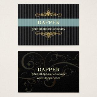 PixDezines elegant pin stripes+scrolls/diy color Business Card