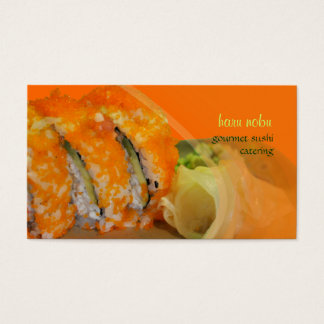PixDezines Encrusted Masago Sushi Business Card