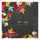 PixDezines fall/maple leaves/rustic chalkboard Invites