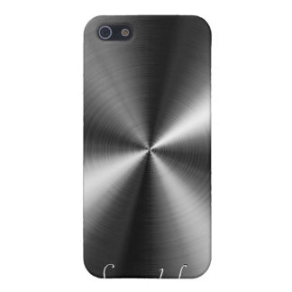 PixDezines faux brushed metal Case For iPhone SE/5/5s