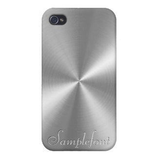 PixDezines faux brushed metal Cover For iPhone 4
